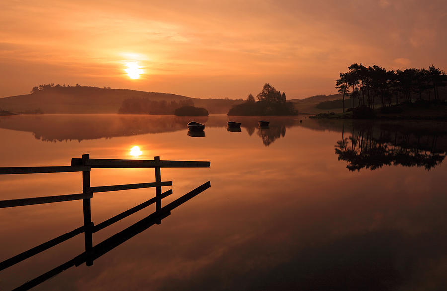Sunrise At Knapps Loch Photograph