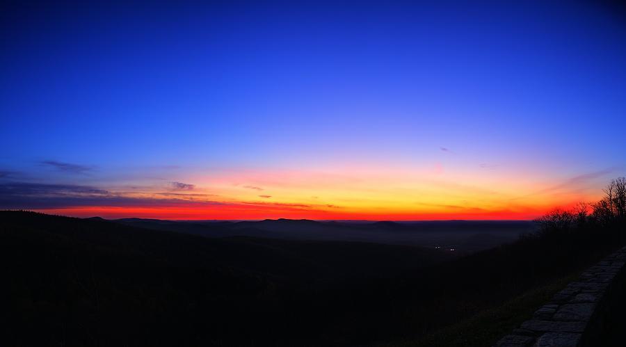 Sunrise At Skyline Drive Photograph