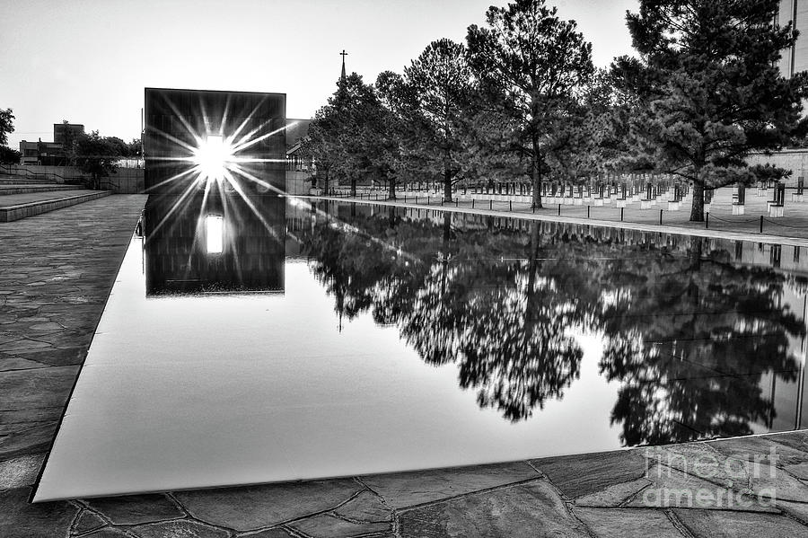 Sunrise At The Alfred P Murrah Memorial Photograph