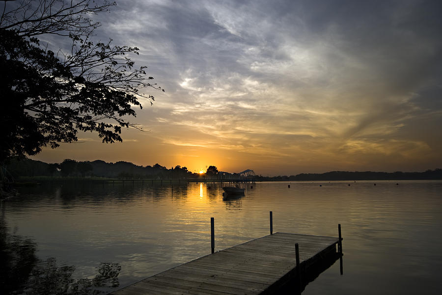 Sunrise At The Reservoir Photograph
