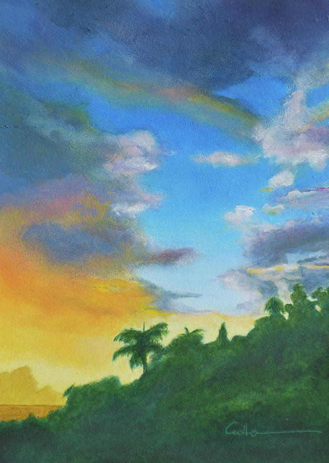 Landscape Painting - Sunrise by Diane Cutter