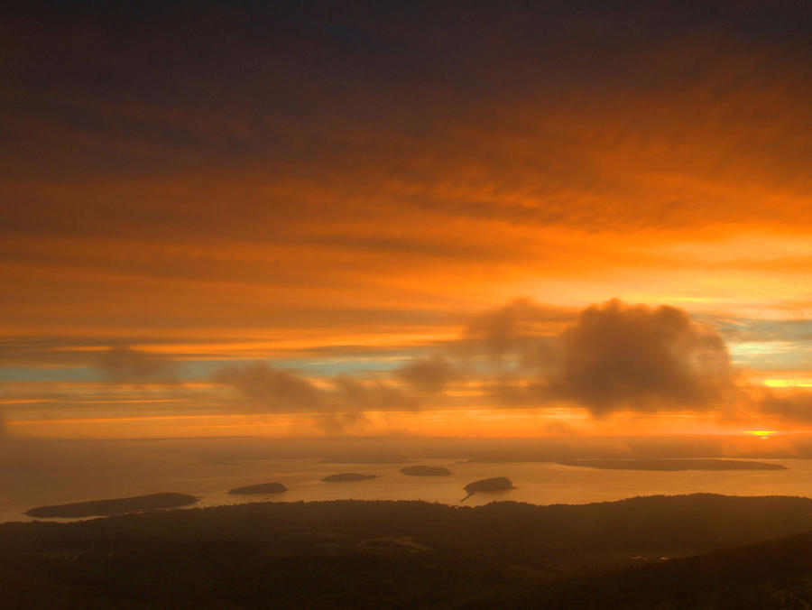 Sunrise From Cadillac Mountain Photograph  - Sunrise From Cadillac Mountain Fine Art Print