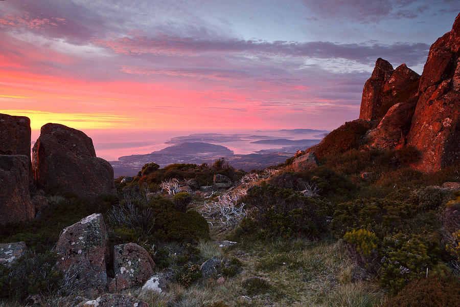 Sunrise from mount wellington tasmania by chris cobern