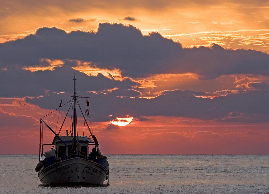 Sunrise Photograph - Sunrise In Crete by Max Waugh
