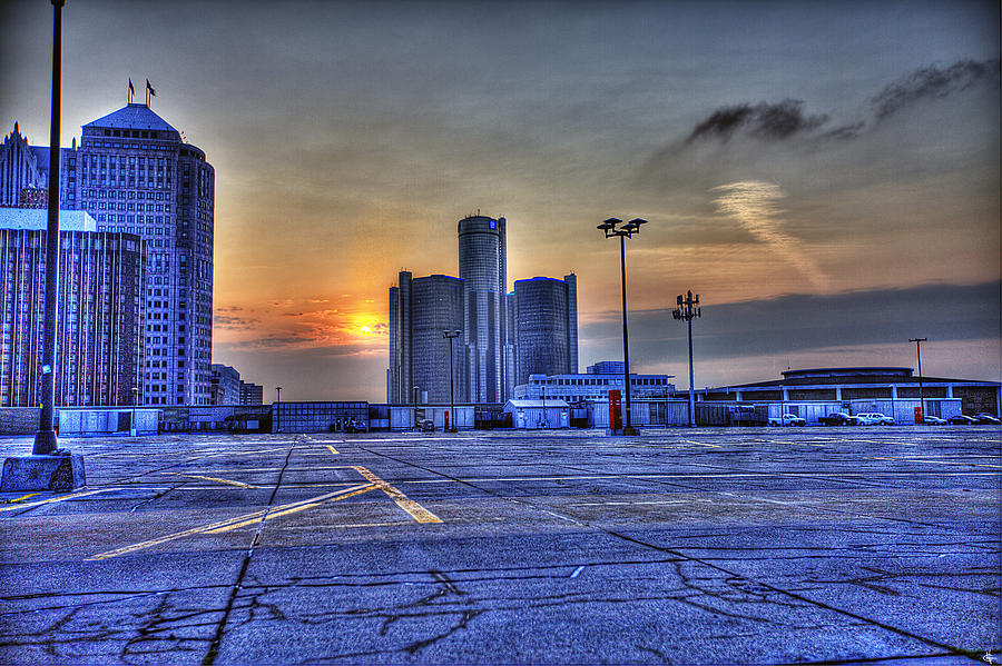 Sunrise In Detroit Mi Photograph
