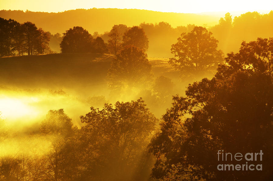 Sunrise In The Mountains Photograph  - Sunrise In The Mountains Fine Art Print