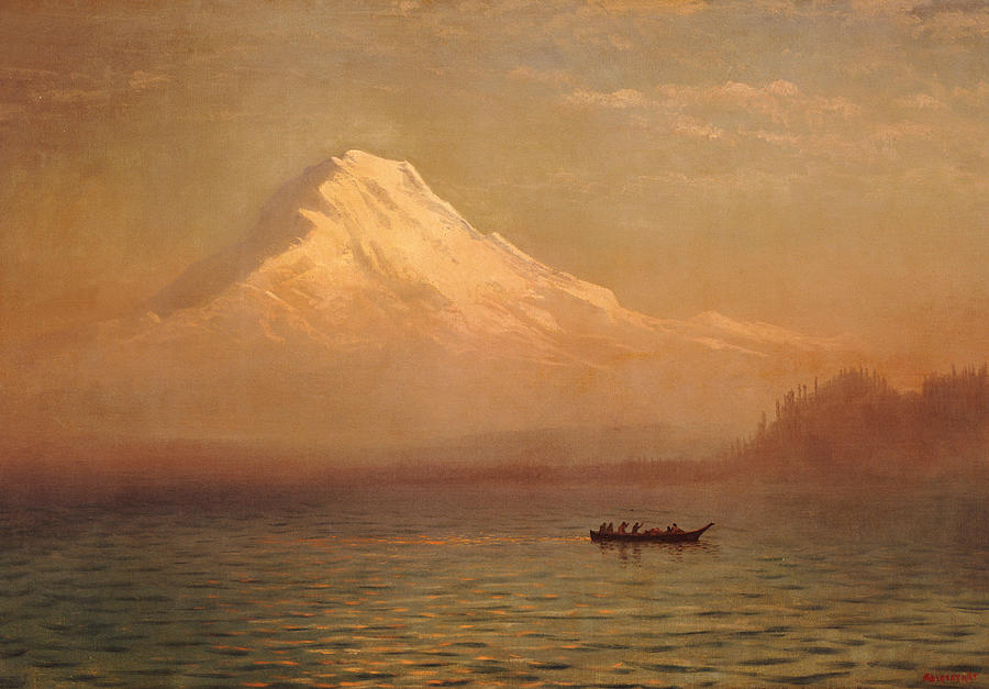 Sunrise On Mount Tacoma  Painting  - Sunrise On Mount Tacoma  Fine Art Print
