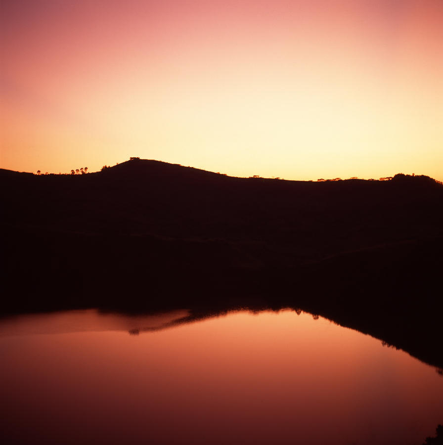 Sunrise On Nyambuga Crater Lake Photograph