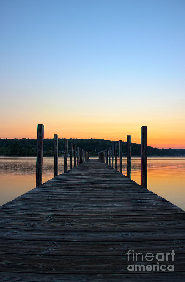 Sunrise On The Docks Photograph