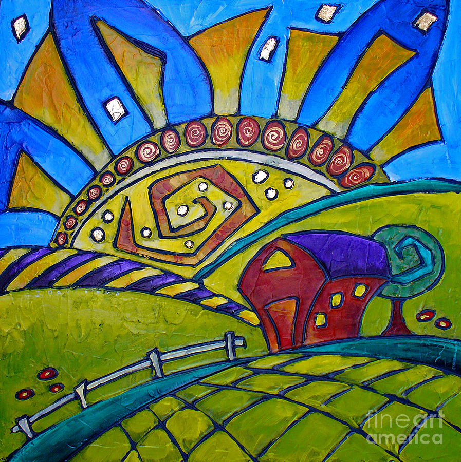 Sunrise On The Midnight Farm Painting