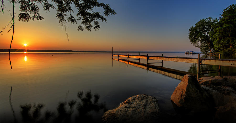 Sunrise Over Cayuga Lake Photograph