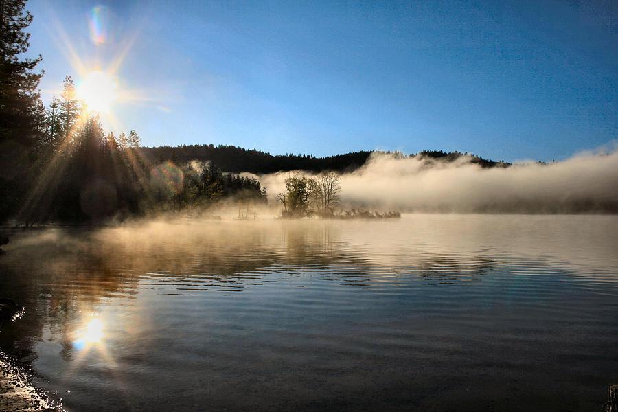 Sunrise over scotts flat lake by sally bauer for Scotts flat lake fishing