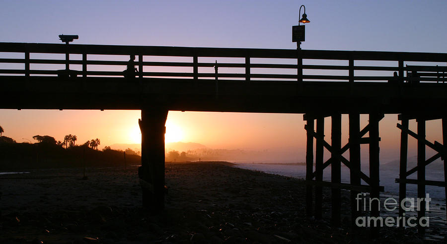 Sunrise Pier Ventura Photograph