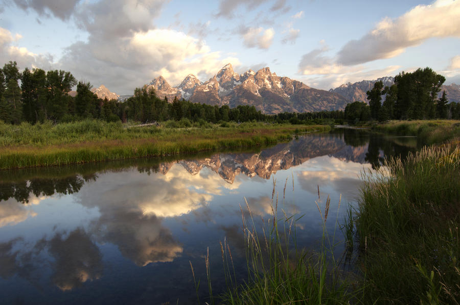 Sunrise Reflection At Schwabacher Landing  Photograph