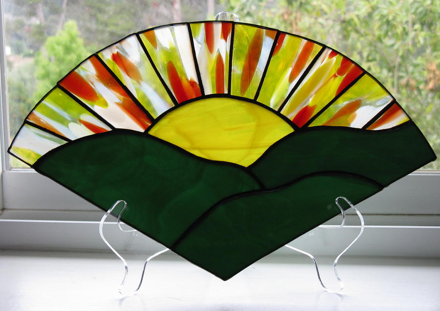 Sunrise Sunset Glass Art