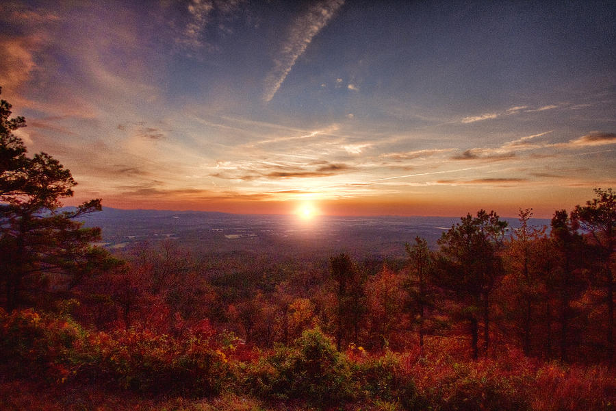 Sunrise-talimena Scenic Drive Arkansas Photograph