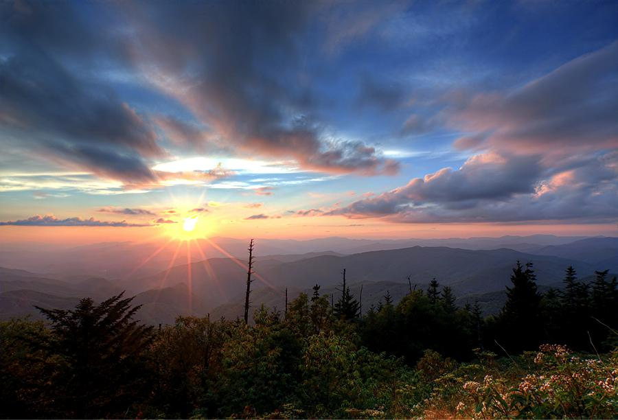 Sunset Great Smoky Mountains National Park Photograph By