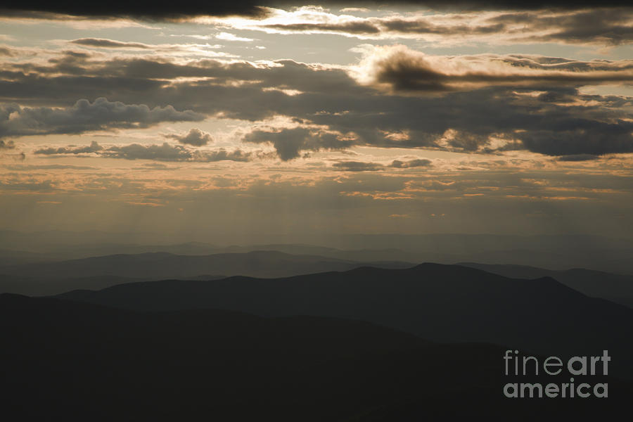 Sunset - White Mountains New Hampshire Usa Photograph