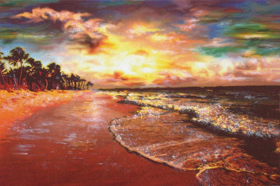 Sunset 3 Painting  - Sunset 3 Fine Art Print