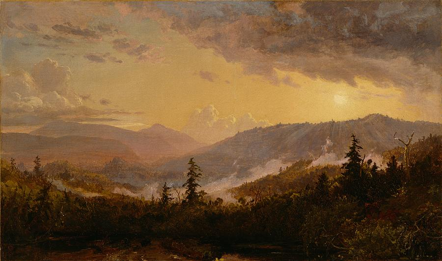 Sunset After A Storm In The Catskill Mountains Painting  - Sunset After A Storm In The Catskill Mountains Fine Art Print