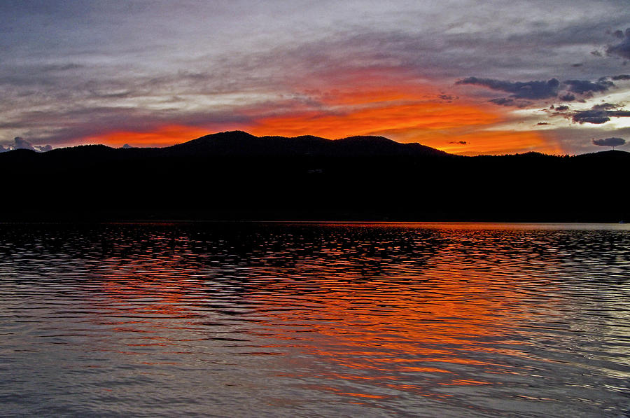 Sunset At Carter Lake Co Photograph  - Sunset At Carter Lake Co Fine Art Print