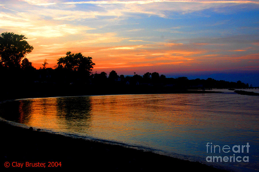Sunset At Colonial Beach Cove Photograph  - Sunset At Colonial Beach Cove Fine Art Print