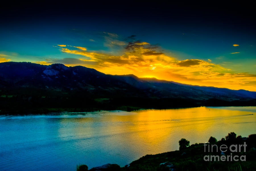 Sunset At Horsetooth Reservoir Photograph