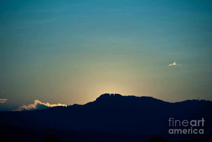 Sunset At Horsetooth Rock Photograph