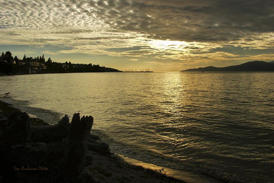Sunset At Kitsilano Photograph
