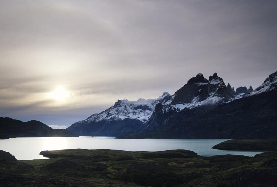 Sunset At Lago Pehoe  In The Cuenos Del Photograph