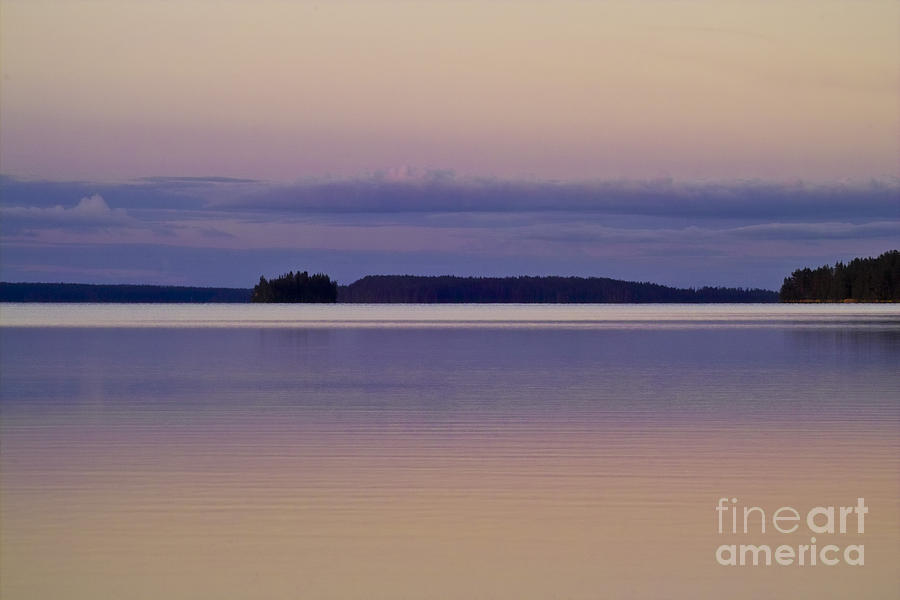 Sunset At Lake Muojaervi Photograph  - Sunset At Lake Muojaervi Fine Art Print