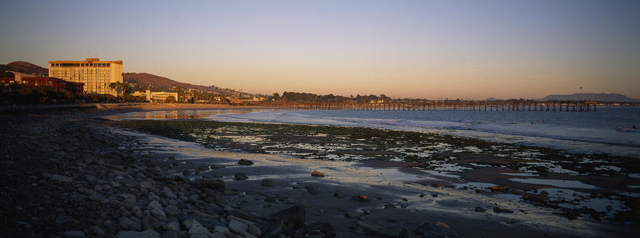 Sunset At Low Tide On Ventura Beach Photograph
