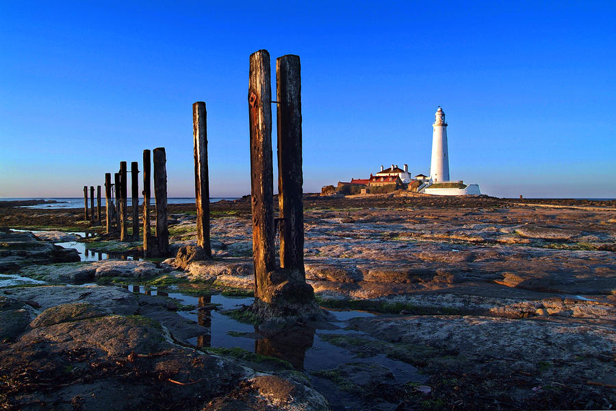 Sunset At St. Marys Lighthouse Photograph