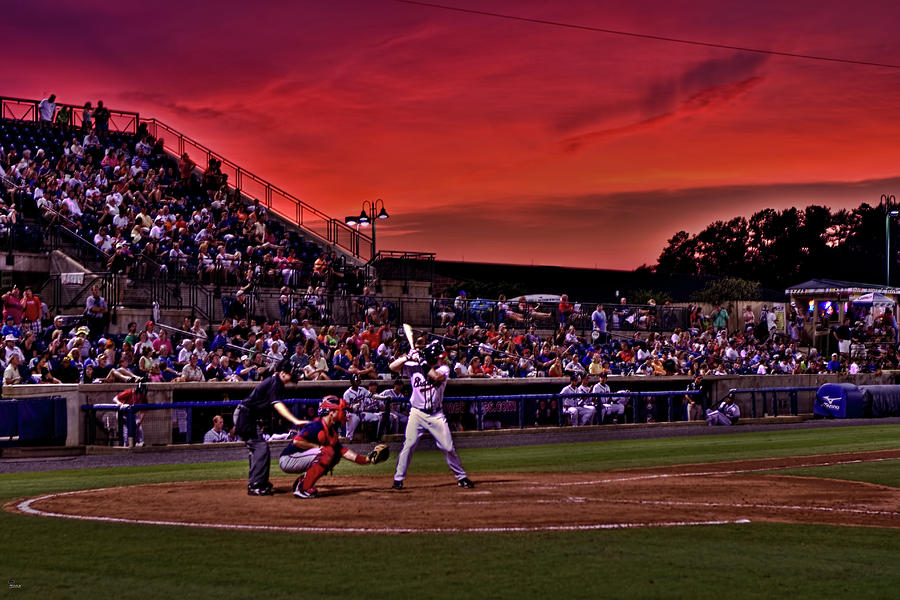 Sunset At State Mutual Stadium Photograph