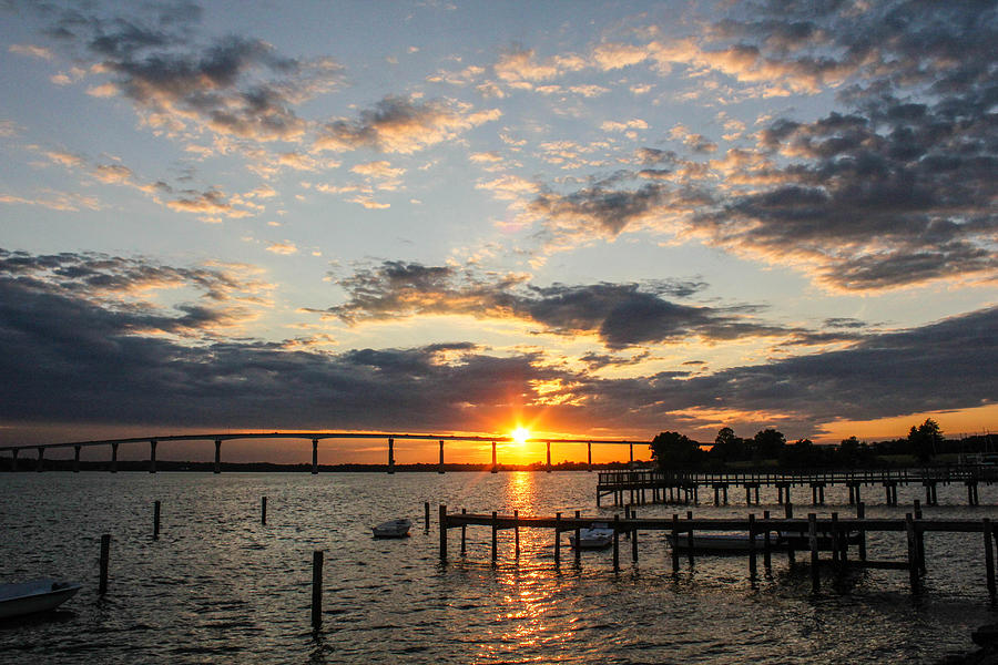 Sunset At The Bridge Photograph  - Sunset At The Bridge Fine Art Print