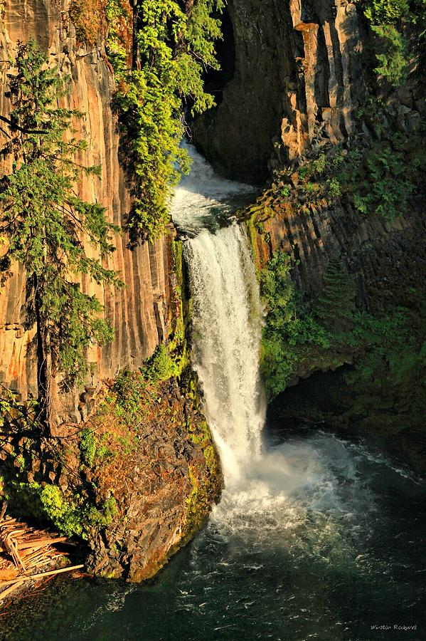 Sunset At Toketee Falls Photograph