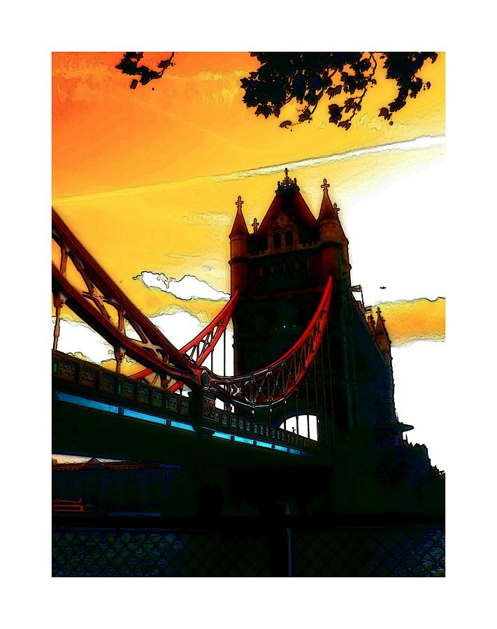 Sunset At Tower Brigde Digital Art