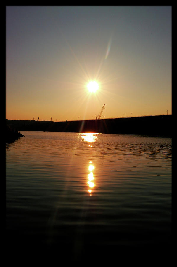 Sunset At Wolf Creek Dam Photograph  - Sunset At Wolf Creek Dam Fine Art Print