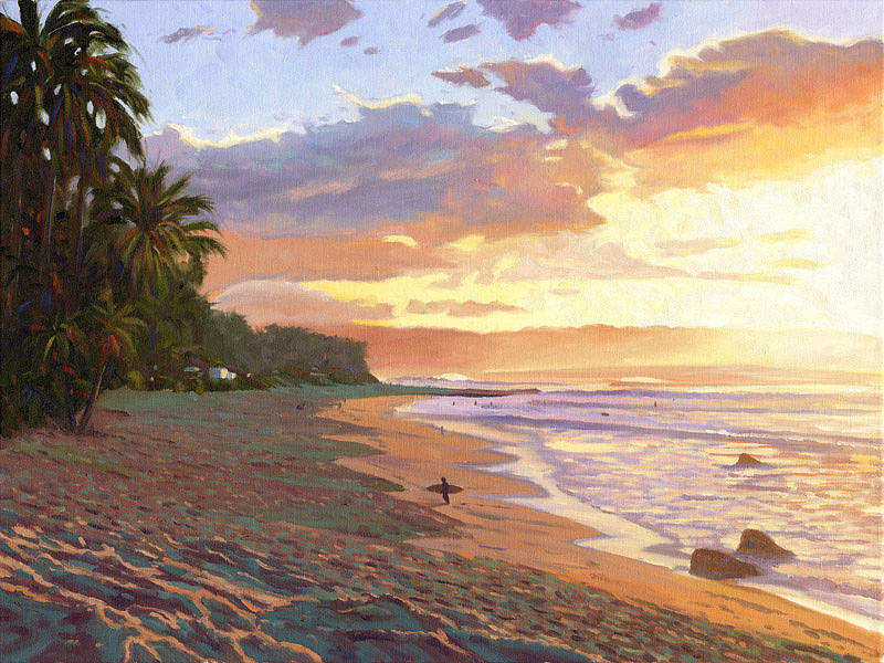 Sunset Beach - Oahu Painting  - Sunset Beach - Oahu Fine Art Print