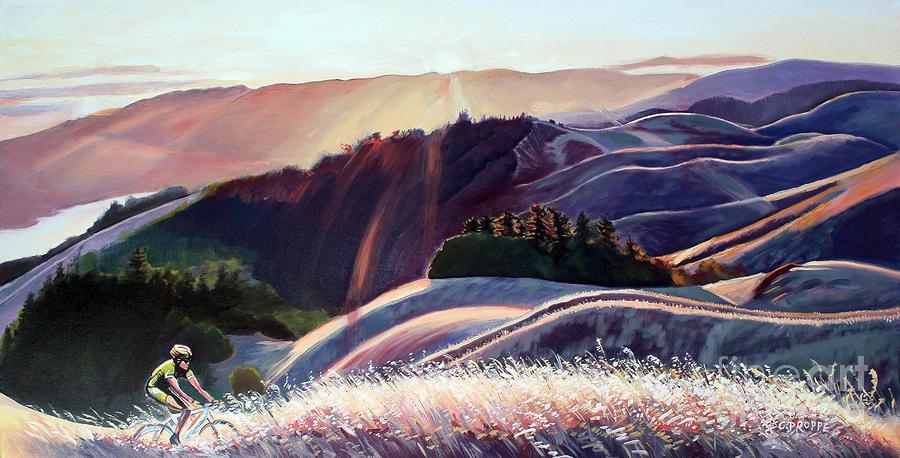 Sunset Bike Ride Painting