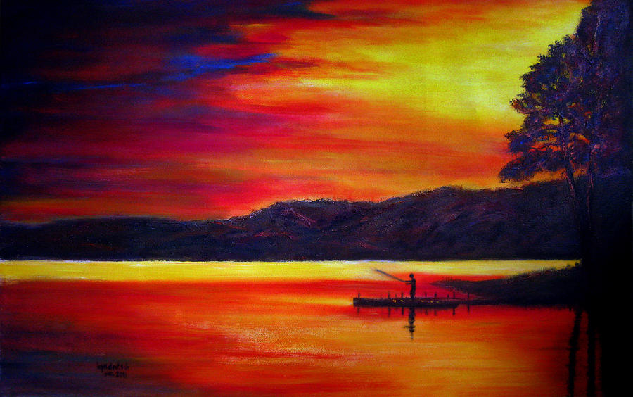 Easy sunset paintings for pinterest