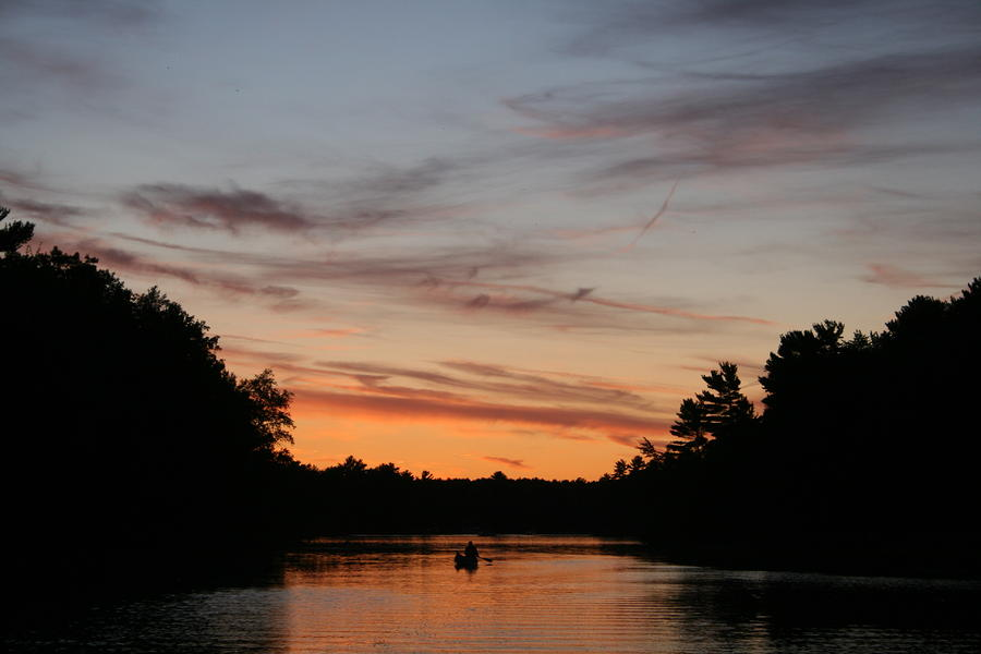 Sunset Canoe Photograph