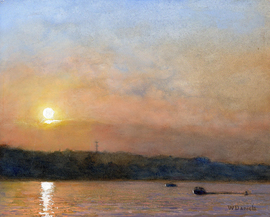 Sunset- Cazenovia Lake Painting  - Sunset- Cazenovia Lake Fine Art Print