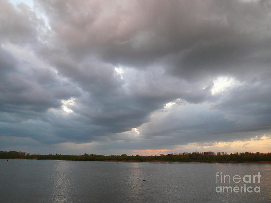 Sunset Clouds Photograph  - Sunset Clouds Fine Art Print