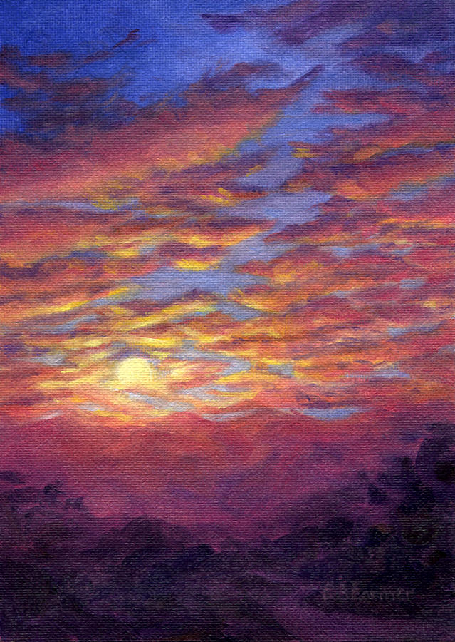 Sunset Fantasy Painting  - Sunset Fantasy Fine Art Print