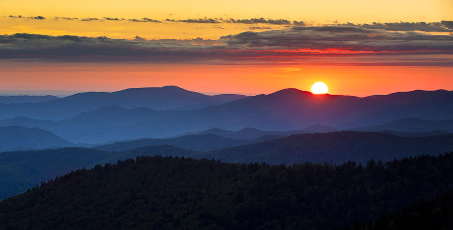 Sunset From Clingmans Dome - Great Smoky Mountains Photograph  - Sunset From Clingmans Dome - Great Smoky Mountains Fine Art Print