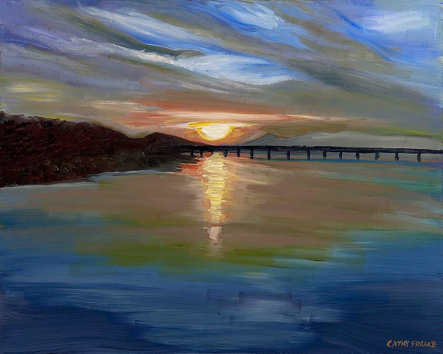 Sunset From The Big Dam Bridge Painting