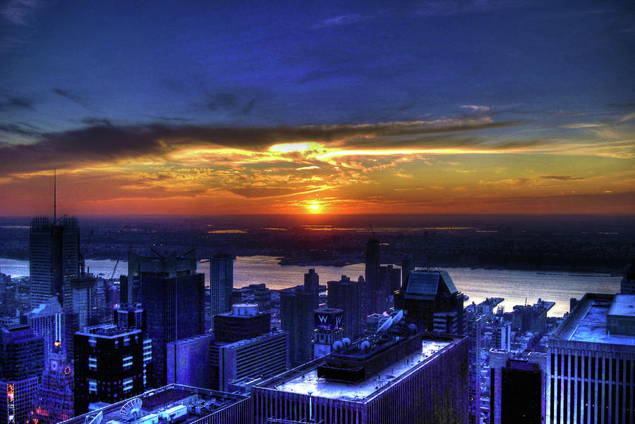 Sunset From The Empire State Building Photograph  - Sunset From The Empire State Building Fine Art Print