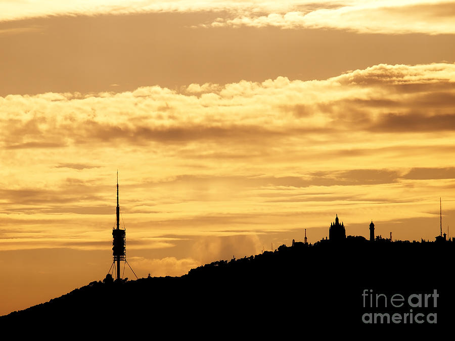 Sunset In Barcelona Photograph