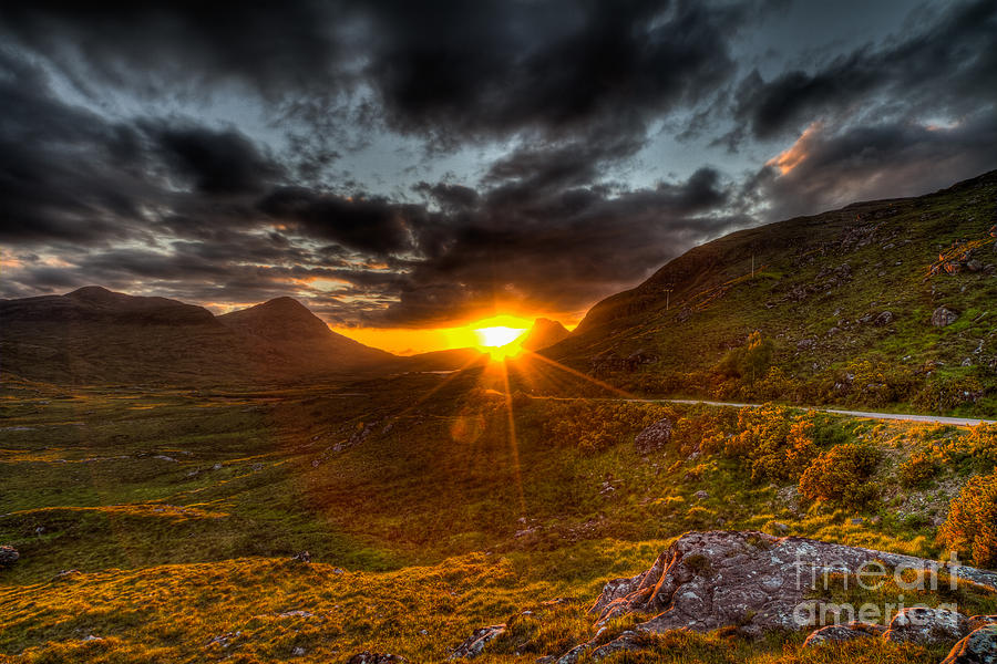 Sunset In The Highlands Photograph